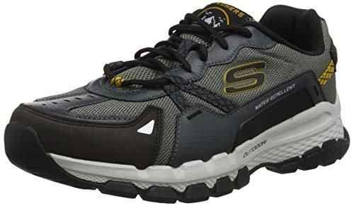 Skechers Herren Outland 2.0 Sneaker, (Olive Leather/Mesh/Back Pu/Trim Olbk), 44 EU