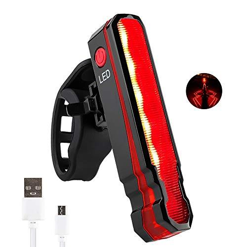BESTSUN Bike Tail Light, USB Rechargeable Laser Bike Rear Light 5 LED Cycling Light Waterproof 6 Light Modes Bike Light Projector Safety Warning Lamp for Night Riding