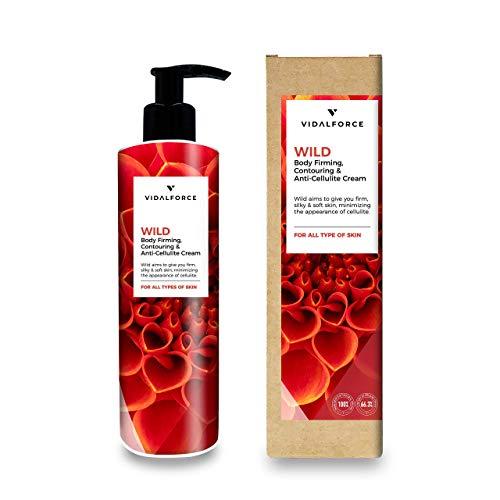 WILD, Crema reafirmante corporal Natural 100% y Ecologica 66% | Crema hidratante corporal tonificante | Anticelulitico reductor potente Natural | 100% Toxic-Free.