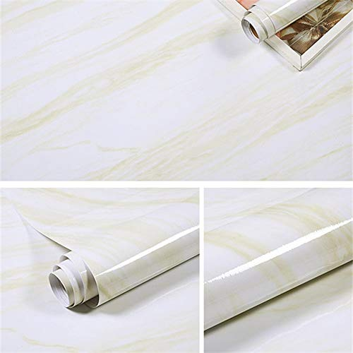 Zelfklevende eenvoudige marmer behang voor keuken, tafel, open haard, kasten en industriële decoratie waterdicht en oliebestendig behang 1MX60CM