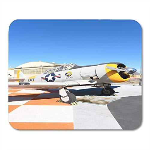 Mauspadmatte, Orange Irvine Ca 31. Januar 2018 SNJ 5 Texan WWII Era Flugzeug auf dem Display im Great Park in Kalifornien Luxuriöses Mauspad für Schreibtisch Pad Protector Desk,25x30cm