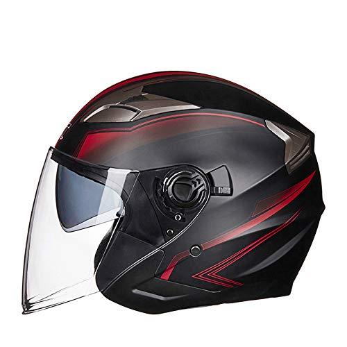 Motorradhelm Offenes Gesicht Doppellinsen Visiere Moto Helm Elektrischer Fahrradhelm Männer Frauen Sommer Roller Motorradhelm