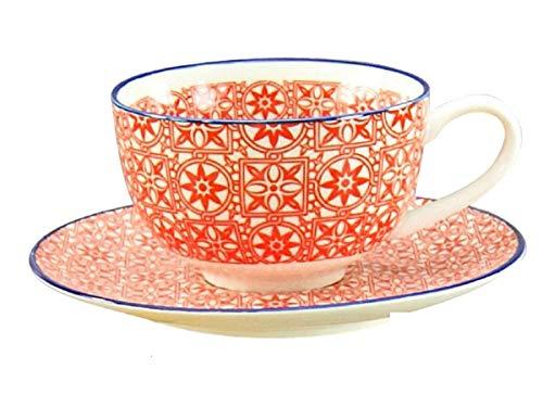 Creatable Kaffeetasse mit Untertasse Mediterran zu 17362 (Rot)