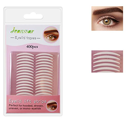 400Pcs Natural invisible Single-sided Eyelid Tapes Eyelid Stickers, Instant Eye lid Lift Strip, Perfect for Uneven Mono-Eyelids, Slim