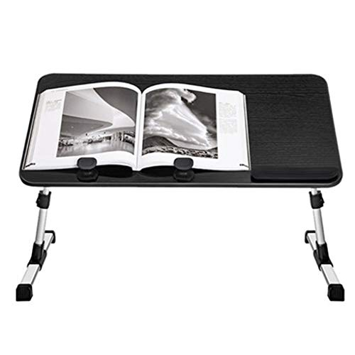 YLYWCG Side Table Bed Desk Portable Folding Laptop Desk,Play Games On Bed Table, Reading Holder Adjustable Laptop Desk,Foldable Bed Tray Lap Desk,for Couch, Floor Interior Furniture (Color : Black)