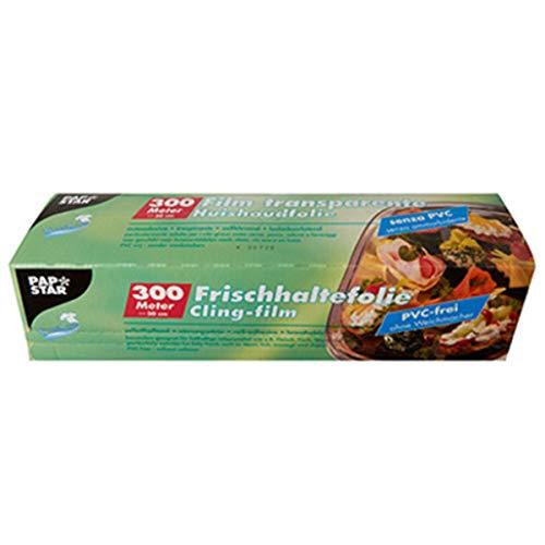 PAPSTAR Frischhaltefolie, Breite: 450 mm, Großrolle Material: LDPE (Polyethylen), transparent, Stärke: 11 My, 1 Stück (86988)
