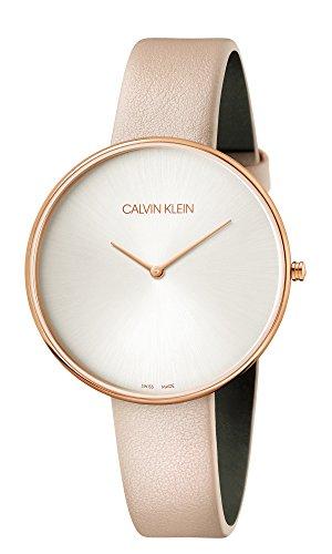 Calvin Klein dames analoog kwarts horloge met lederen armband K8Y236Z6
