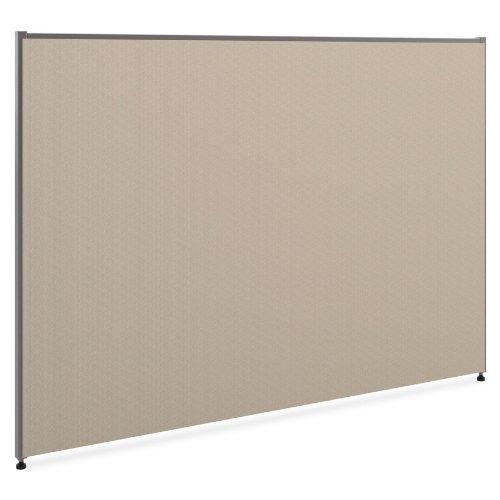 "HON Verse Panel , 42""H x 60""W , Light Gray Finish , Gray Fabric"