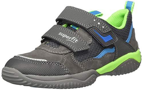 Superfit Jungen STORM Sneaker, GRAU/GRÜN 2000,31 EU