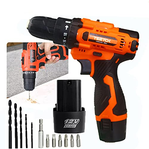 Cordless Drills Driver 2X Battery Kit Rechargeable Electric Screwdriver