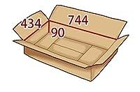 In The Box ダンボール 段ボール「衣類用D(744×434×高さ90mm) 10枚」茶色