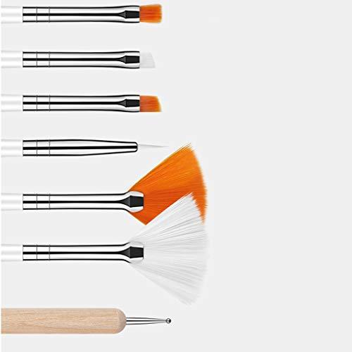 HoneyGod Nail Art Supplies with 15Pcs Brushes Set with 5Pcs Dotting Pens - 3D 2 Way Glitter Nail Diamonds Rhinestones Kit Dotting Pen Tool Dot Paint Manicure Kit Nail Art Tip Photo #2