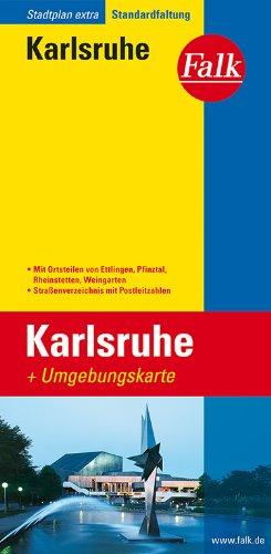 Falk Stadtplan Extra Standardfaltung Karlsruhe