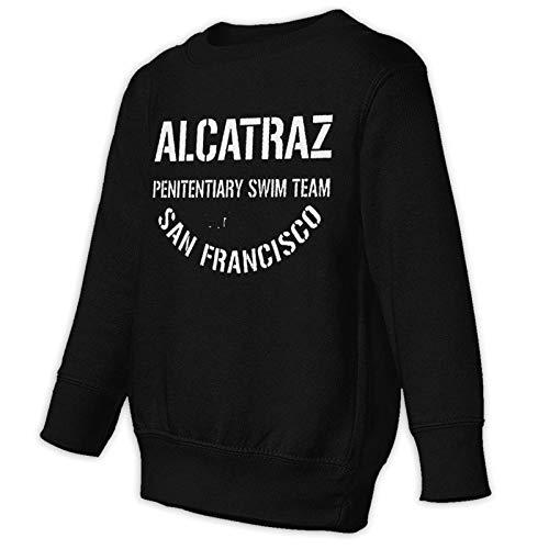 Alcatraz Pennitentiary Swim Team Casual Pullover Sweater Kleinkind Juvenile Sweatshirt für Kinder Gr. 98, Schwarz