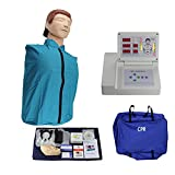 GXGX Medio Cuerpo CPR Entrenamiento Manikin Modelo Modelo CARDIOPULMONARIO SIMULADOR SIMULADOR Primeros Auxilios, con el Controlador de Pantalla para la Ayuda médica de c