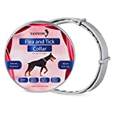 Tanness Collar antipulgas y garrapatas Perros Grandes y pequeños, 25 Pulgadas, hipoalergénico e Impermeable, para prevenir garrapatas y Control de pulgas, para 8 Meses de protección