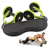 CHRONSTYLE 6 Trainings Level Portable Sport Core Double AB Power AB Roller AB Rad Fitness Bauch Übungen Ausrüstung (Grün, OneSize)
