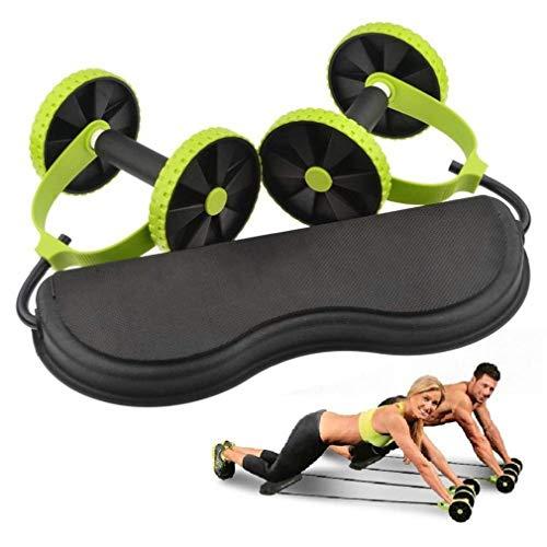 Bravoy Fitnessgerät, Bauchtrainer Armtrainer Rückentrainer oppelrollen Roller für Fitness Bauchmuskeltraining Fitness Übung für Frauen und Männer