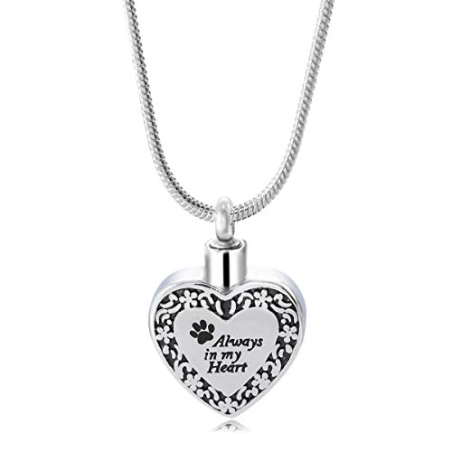 HOUSWEETY Stainless Steel Life Tree Hope urn pendant Necklace Memorial Ash Keepsake Cremation Jewelry