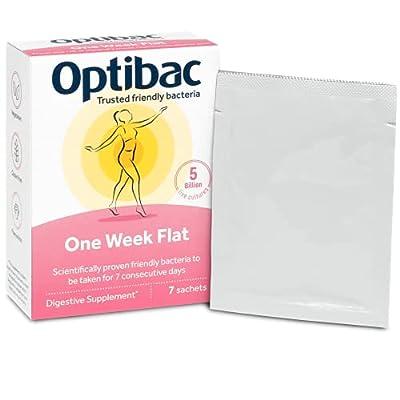 Optibac Probiotics One Week Flat   Good Bacteria   Suitable for Bloating   5 Billion   1-Week Supply   7 Powder Sachets