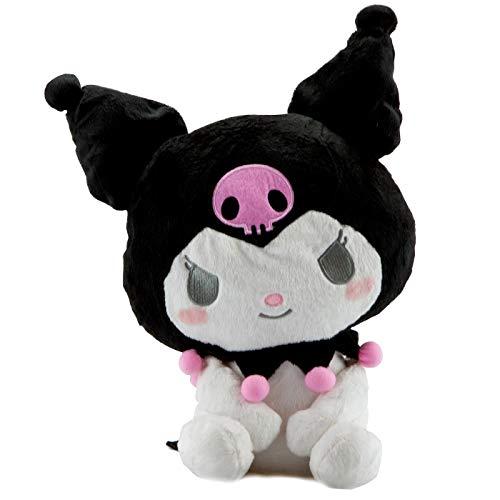 My Melody Schwarze Figur Kuromi- Hello Kitty´s Friends Kawaii Plüsch Plüschtier Plüschfigur Plüschi XXL Kuscheltier Katze Hase als Geschenk für Weihnachten oder Geburtstag Kinder