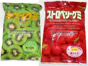 Kasugai Excellence Kiwi and Strawberry Gummy 2 Packs Candies mart