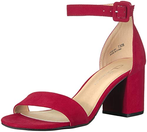 CL by Chinese Laundry Women's Jody Heeled Sandal, Ruby red Suede, 9 M US