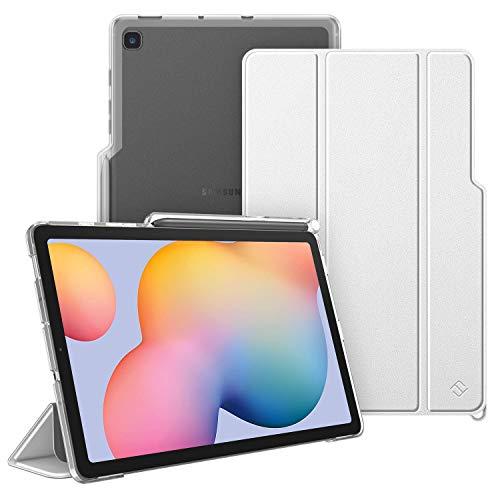Fintie Hülle für Samsung Galaxy Tab S6 Lite - Silm Schutzhülle mit durchsichtiger Rückseite Abdeckung Cover, Auto Sleep/Wake für Samsung Tab S6 Lite 10.4 SM-P610/ P615 2020, Silber