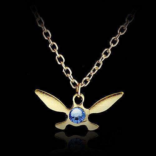 Silber Gold Kristall Zelda Navi Halskette Legend of Zelda Halskette Fairy Geek Zelda Geschenk (1)