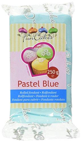 Funcakes Pasta di Zucchero Celeste Pastello - 4 Pacchi da 250 Gr
