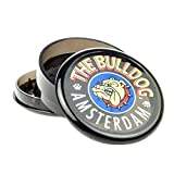 Bulldog 2'Grinder 3 Pieces Plastico Grinder with Pollen Scraper for Herbs and Spices (5cm, Black)