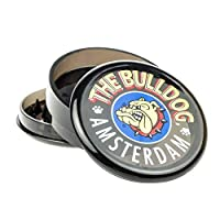 "il bulldog amsterdam [grinder garanzia a vita] 2""(55mm) spezie erbe grinder in 3 pezzi tritino in plastica - nero"