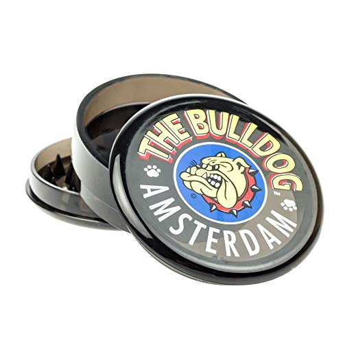 "BULLDOG 2""Grinder 3 Pieces Plastico Grinder with Pollen Scraper for He"