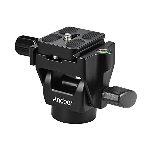 Andoer M-12 Monopod Tilt Head Panoramic Head Telephoto Bird Watching with 3pcs Quick Release Plate