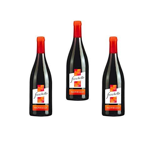 3 Bottiglie di Freschello Novello Vino Rosso Cl.75
