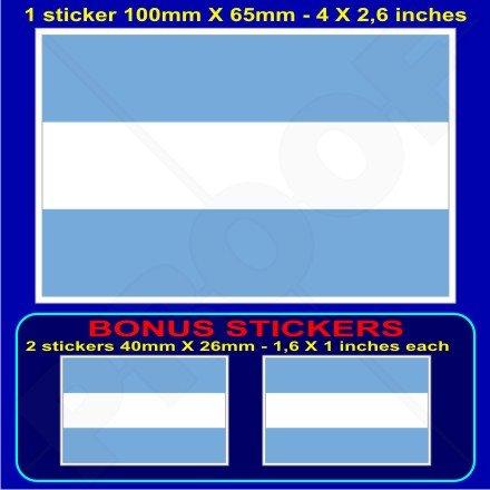 argentine argentin civile Drapeau 10,2 cm Bumper Sticker en vinyle (100 mm), en x1 + 2 Bonus