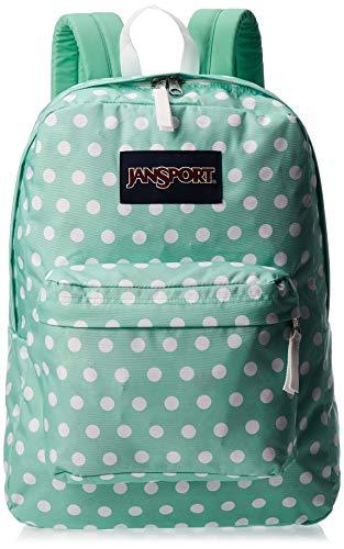 JanSport SuperBreak Backpack - Lightweight School Pack, Cascade Polka Dot