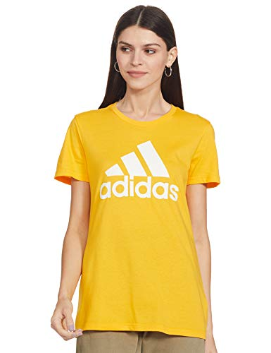 adidas W BOS CO tee Camiseta, Mujer, oroact, L