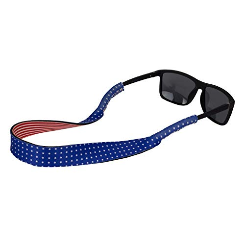 Ukes Premium Sunglass Strap - Durable & Soft Eyewear Retainer Designed with Floating Neoprene Material - Secure fit for Your Glasses and Eyewear. (The Saluters)