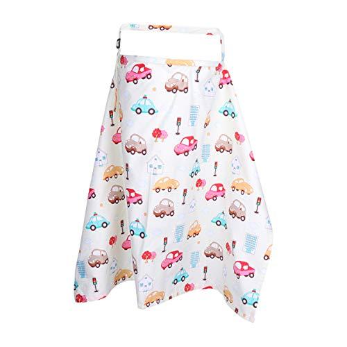 Healifty Baby Pflegedecke Still Poncho für Baby Autositz Baldachin Warenkorb Abdeckung Kinderwagen Abdeckung Baby Dusche Geschenk (Auto)