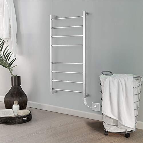 XSGDMN 8 Bar Calentador de Toallas, Calentador de Toallas, montado en la Pared Calentador de Toallas toallero, Secadora eléctrica para baño, la Mejor decoración en el baño