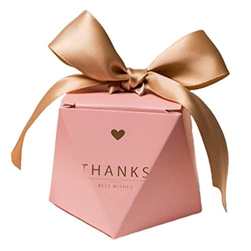 SANWOOD 20 Stück Hochzeits-Süßigkeiten-Box,Papier-Süßigkeits-Boxen,Süße kleine Geschenkbox,rosa Süßigkeits-Boxen,schöne Geschenkboxen für Geburtstag,Party,Weihnachten S
