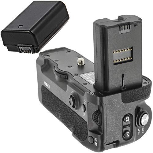 Meike - Empuñadura de batería Compatible con Sony Alpha A9 A73 A7III A7rIII, sustituye a Sony VG-C3EM, Incluye 1 batería NP-FZ100 de 1600 mAh