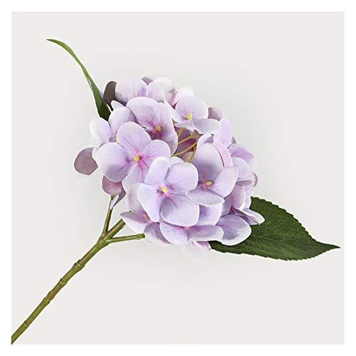 WANGJBH Trockenblumen Hortensie 3D mit Blättern, künstliche Seidenblumen für Heimweditionsdekoration, falsche Zierpflanzen Künstliche Blume (Couleur : K)