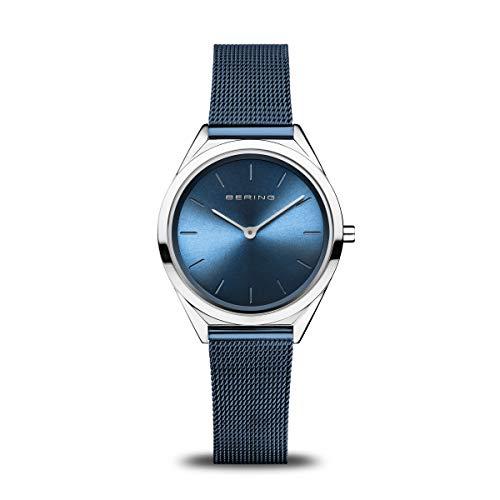 BERING Unisex Analog Quartz Uhr mit Edelstahl Armband 17031-307