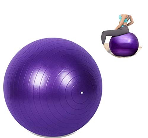 Longsing Pelota de Yoga Pelota de Ejercicio para Pilates Fitness Embarazo Pérdida de Peso Laboral Anti-explosión Material Ecológico 75cm
