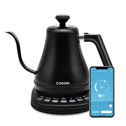 COSORI Electric Gooseneck Smart Bluetooth with Variable Temperature Control Pour Over Coffee Kettle...