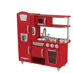 REALISTIC FEATURES - Our lifelike, kid-sized toy kitchen has an oven, microwave, refrigerator, and a role play phone so your kids can pretend (and learn) all about food prepping, cooking, and even washing up The doors open and close and both microwav...