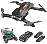 Holy Stone HS160 Pro Foldable Drone with 1080p Full HD WiFi Camera for Adults and Kids, with 2 Batteries 24 Mins Play, Carry Case, FPV Live Video, Optical Flow, Altitude Hold Functions