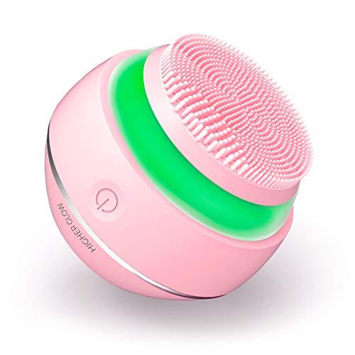 HIGHER GLOW - Gesichtsreinigung mit Anti-Aging Massage - Ultrasanfte Silikonnoppen - Lichttherapie - Neueste 3D-Schallvibration - Wasserdicht